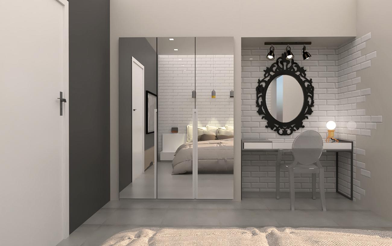 AirBnb Bedroom - Αρχιτεκτονικό γραφείο Ιωάννα Ψαθά